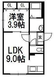 Orfesta S8[1階]の間取り