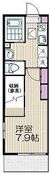 エルセリート北戸田III[201号室]の間取り