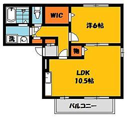 レグルスC[1階]の間取り