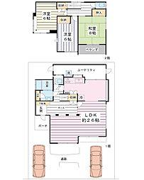 東野3-20-11 戸建 3LDKの間取り
