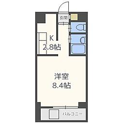 北海道札幌市中央区南十七条西8丁目の賃貸マンションの間取り