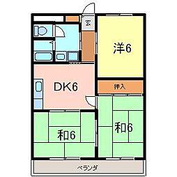 ハイツ塚本[105号室]の間取り