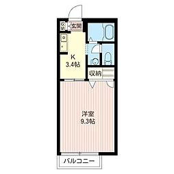 ピュア シャトレ[2階]の間取り