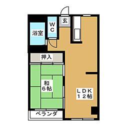 大崎ビルディング[6階]の間取り