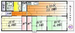 ファミーユミシマ[6階]の間取り