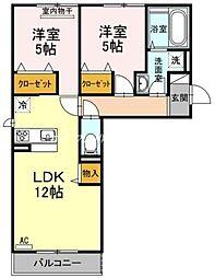 (仮)D-room一宮[2階]の間取り