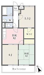 グランドステータス府中本宿 3階3DKの間取り