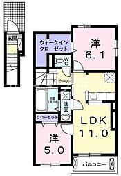 グランデュール1[2階]の間取り