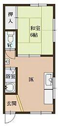 御幣島1丁目マンション[3F号室]の間取り