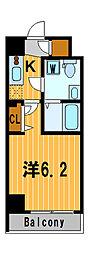 ライジングプレイス川崎二番館[2階]の間取り