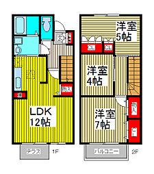 クレールシマダ[2階]の間取り
