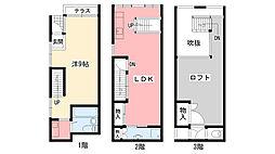 [テラスハウス] 兵庫県西宮市甲子園口1丁目 の賃貸【兵庫県 / 西宮市】の間取り