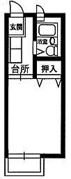 神奈川県川崎市多摩区生田6の賃貸アパートの間取り