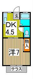 片山コーポラス[1階]の間取り