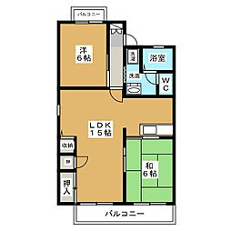 シャンポールY2 A棟[2階]の間取り