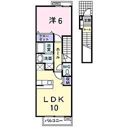 神奈川県伊勢原市高森1の賃貸アパートの間取り