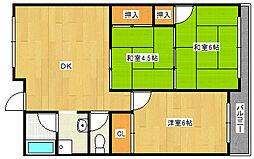 ハイツ富士[4階]の間取り