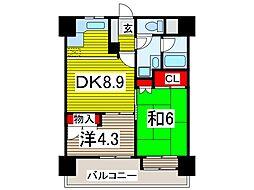 西川口朝日マンション[6階]の間取り
