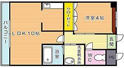 COUNTRY HOUSE YOSHIHO (カントリーハウ[103号室]の間取り