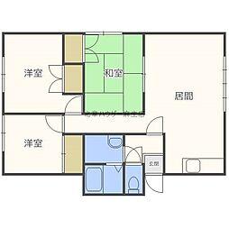マンションオークA[2階]の間取り
