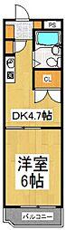 東京都小平市学園東町1丁目の賃貸マンションの間取り