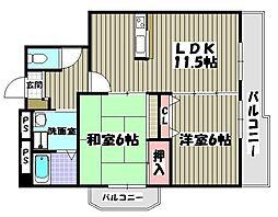 シダ—西大寺[3階]の間取り