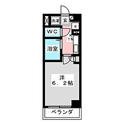 シンシア・シティ榴岡[6階]の間取り