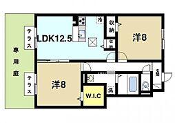 (仮称)D-room西九条町3丁目[(仮称)D-room西102号室]の間取り