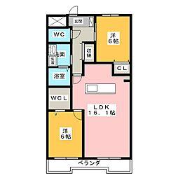 アスピア若鶴[5階]の間取り