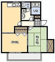 シーサイドコーポ C棟[102号室]の間取り