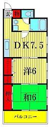 東澤マンション[201号室]の間取り
