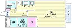 仙台市地下鉄東西線 八木山動物公園駅 徒歩25分の賃貸アパート 1階ワンルームの間取り