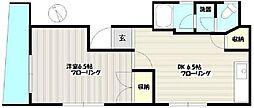東京都台東区鳥越2丁目の賃貸アパートの間取り