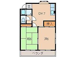 マンション神前II[3階]の間取り