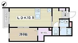 THE RESIDENCE[203号室]の間取り