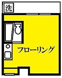 東京都新宿区原町3丁目の賃貸マンションの間取り