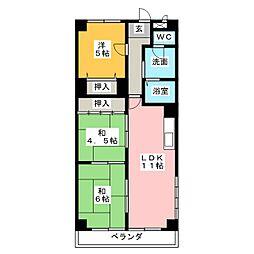 メゾン大殿[4階]の間取り