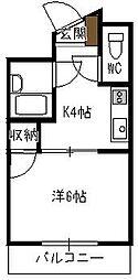 C&C三宅[107号室]の間取り