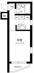 スカイコート本郷東大前 4階1Kの間取り