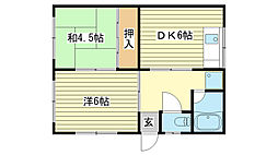 [一戸建] 兵庫県姫路市勝原区山戸 の賃貸【/】の間取り