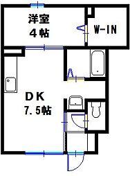 アメージングエステート[1階]の間取り