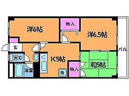 東京都調布市西つつじケ丘3丁目の賃貸マンションの間取り