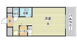 土井ハイツ北条口[206号室]の間取り