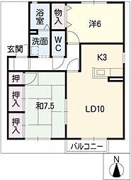メゾン五反田 B棟[2階]の間取り