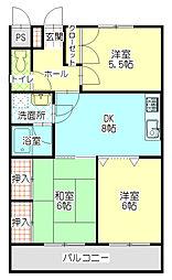 Neo・City−F[2階]の間取り