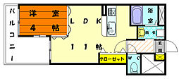 BEN千早弐番館[3階]の間取り