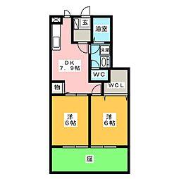 プレステージII[1階]の間取り