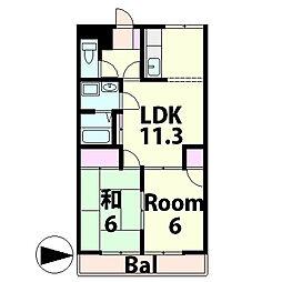 ロワールKENT[1階]の間取り