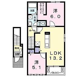 BEST HOUSE II B[0203号室]の間取り