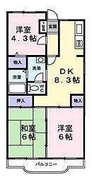 第2TOWAヒルズ(第二トーワヒルズ)[2階]の間取り